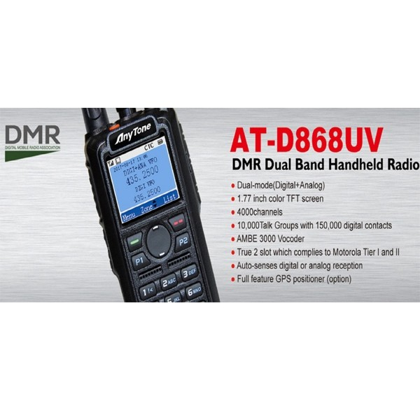 AT-D868UV VHF-UHF DMR Radio