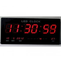Ψηφιακό ρολόι LED  τοίχου-Θερμόμετρο-Ημερολόγιο.