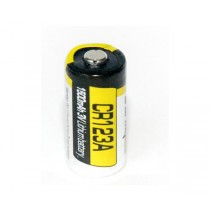 CR123A   lithium battery. Non-rechargeable.