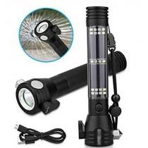 Solar Powered LED Car Flashlight