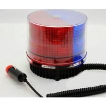Φάρος LED κόκκινος-μπλε 12V, μαγνητικός