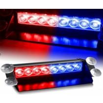 LED FLASH 8Watt Κόκκινο-Μπλέ